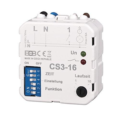 Elektrobock Multifunktions Nachlaufrelais Unterputz, CS3-16