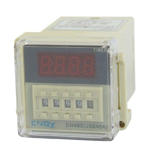 110VAC DPDT 11P | 0,01s bis 99h99m | DIN rail Digit Timerrelais | DH48S-11