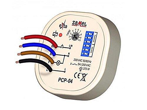 Zamel PCP-04 Zeitrelais | Multifunktionsrelais für Unterputz | 8 verschiedene Funktionen