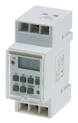 Wochen-Zeitschaltuhr, digital, für Schalttafel-Einbau, 230V, max. 3500W
