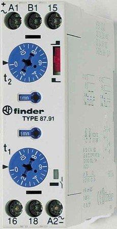 Finder Zeitrelais 24-48VDC 230VAC 87.91.0.240.0000 Imp.o.Paus.umschaltb Serie 87 Zeitrelais 8012823276649